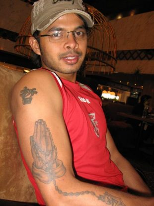 Espncricinfo marked men faith says sreesanths tattoo in chinese gumiabroncs Gallery