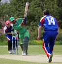 Gavin Beath gets a wicket, Japan v Suriname, ICC World Cricket League Division 7, Port Soif, May 20, 2009