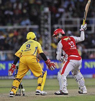 Yuvraj SIngh was bowled by Suresh Raina for 6, Chennai Super Kings v Kings XI Punjab, IPL, 54th match, Durban, May 20, 2009