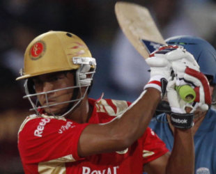 Manish Pandey powers the ball through the off side, Royal Challengers Bangalore v Deccan Chargers, IPL, 56th match, Centurion, May 21, 2009