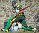 Stuart Le Prevost sweeps en route to his half-century, Guernsey v Nigeria, ICC World Cricket League Division 7, St Peter Port, May 21, 2009