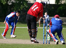 Takuro Hagihara took three wickets to guide Japan to victory, Gibraltar v Japan, ICC World Cricket League Division 7, St Peter Port, May 23, 2009