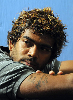 Lasith Malinga strikes a reflective pose, Colombo, May 26, 2009