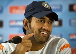 MS Dhoni addresses the media, Lord's, May 31, 2009
