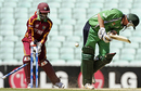 Jeremy Bray is castled by Sulieman Benn, Ireland v West Indies, ICC World Twenty20 warm-up match, The Oval, June 2, 2009