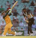 Ricky Ponting swings over midwicket during his fifty, Australia v New Zealand, ICC World Twenty20 warm-up match, The Oval, June 2, 2009