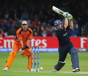 Luke Wright hit 71 off 49 balls as England made 162 for 6 against Netherlands in the opening match of the ICC World Twenty20 at Lord's