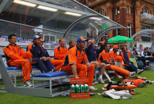 Time for biting nails in the Dutch dugout, England v Netherlands, ICC World Twenty20, Lord's, June 5, 2009