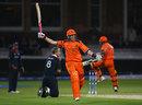 Edgar Schiferli leaps for joy as he seals Netherlands' dramatic last-ball win, England v Netherlands, ICC World Twenty20, Lord's, June 5, 2009