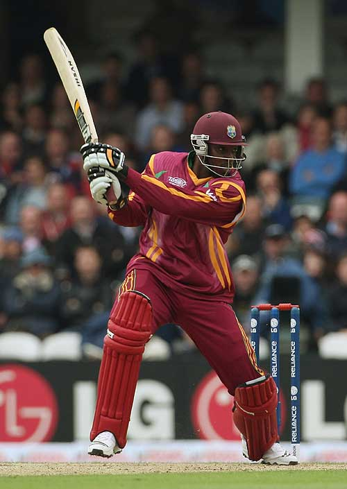 Chris Gayle laces another boundary during an amazing innings