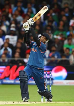 Yuvraj Singh gets stuck into one, Bangladesh v India, ICC World Twenty20, Trent Bridge, June 6, 2009