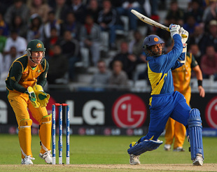 Tillakaratne Dilshan slams another four during his fifty against Australia, Australia v Sri Lanka, ICC World Twenty20, Trent Bridge, June 8, 2009