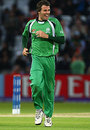 Kyle McCallan is chuffed after getting rid of MS Dhoni, India v Ireland, ICC World Twenty20, Trent Bridge, June 10, 2009