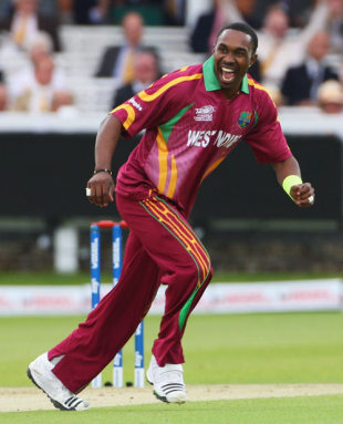 Dwayne Bravo took four wickets to stifle India, India v West Indies, ICC World Twenty20 Super Eights, Lord's, June 12, 2009