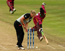 Kirbyina Alexander is run-out for 11, New Zealand v West Indies, ICC Women's World Twenty20, Taunton, June 13, 2009