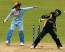 Javeria Khan is stumped by Sulakshana Naik, India v Pakistan, ICC Women's World Twenty20, Taunton, June 13, 2009
