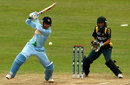 Anjum Chopra drives through cover, India v Pakistan, ICC Women's World Twenty20, Taunton, June 13, 2009