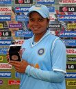 Priyanka Roy with the Player-of-the-Match award, India v Pakistan, ICC Women's World Twenty20, Taunton, June 13, 2009