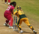 Cordel Jack is stumped for 24, Australia v West Indies, ICC Women's World Twenty20, Taunton, June 14, 2009