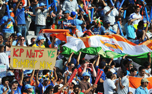 Indian supporters out in full force, England v India, ICC World Twenty20 Super Eights, Lord's, June 14, 2009