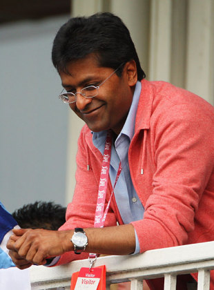 IPL commissioner Lalit Modi watches the game, England v India, ICC World Twenty20 Super Eights, Lord's, June 14, 2009