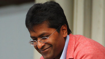 IPL commissioner Lalit Modi watches the game