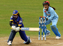 Deepika Rasangika employs the sweep, India v Sri Lanka, ICC Women's World Twenty20, Taunton, June 15, 2009
