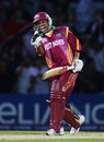 Ramnaresh Sarwan celebrates West Indies' win and their semi-final qualification, England v West Indies, ICC World Twenty20, The Oval, June 15, 2009