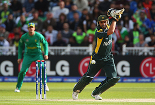 Shahid Afridi starred with both bat and ball as Pakistan entered the final of the World Twenty20 with a seven-run win against South Africa at Trent Bridge