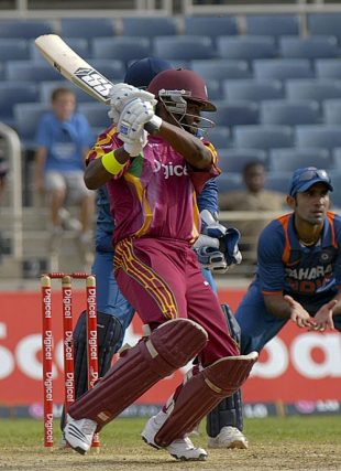 Darren Bravo cuts, West Indies v India, 1st ODI, Kingston, June 26, 2009