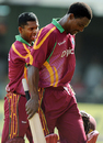 Runako Morton and Shivnarine Chanderpaul head back to the pavilion after taking West Indies through, West Indies v India, 2nd ODI, Kingston, June 28, 2009
