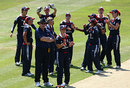 England players celebrate the run-out of Erin Osborne, England Women v Australia Women, 1st ODI, Chelmsford, June 29, 2009