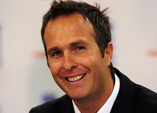 Michael Vaughan addresses the media on announcing his retirement, Edgbaston, June 30, 2009