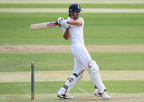 Alastair Cook stands tall to pull in front of square