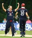 Nicky Shaw celebrates a wicket, England v Australia, 3rd women's ODI, Stratford, July 3, 2009