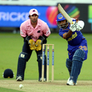Swapnil Asnodkar smashes it through the off side, Middlesex v Rajasthan Royals, British Asian Cup, Lord's, July 6, 2009