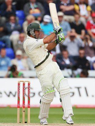 Ricky Ponting went past 11,000 Test runs, England v Australia, 1st Test, Cardiff, 2nd day, July 9, 2009