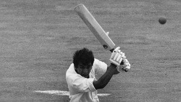 Sunil Gavaskar cuts on his way to a half-century