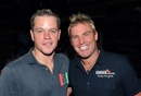 Shane Warne and Matt Damon at the World Series of Poker, Las Vegas