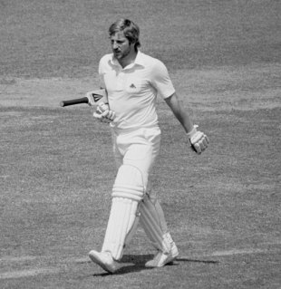 Ian Botham marches off after collecting a pair - he was fired soon afterwards as England captain, England v Australia, Lord's, July 7, 1981