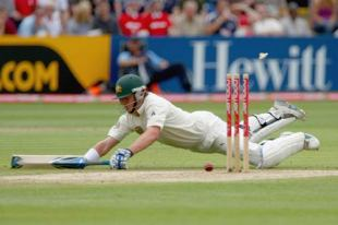 Marcus North dives to make his ground for the run that brought Brad Haddin his half-century, England v Australia, 1st Test, Cardiff, 4th day, July 11, 2009