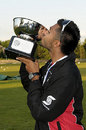 Arsalan Qadir of Canada kisses the trophy, Canada v Bermuda, ICC Americas Region Under-19 World Cup Qualifiers, King City, July 11, 2009