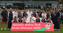 The England women's side after they had retained the Ashes
