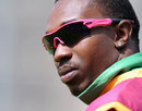 An injured Dwayne Bravo looks on from the sidelines, Sri Lanka v West Indies, Trent Bridge, ICC World Twenty20, June 10 2009