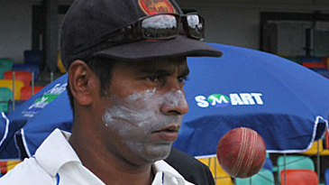 Chaminda Vaas in his final Test