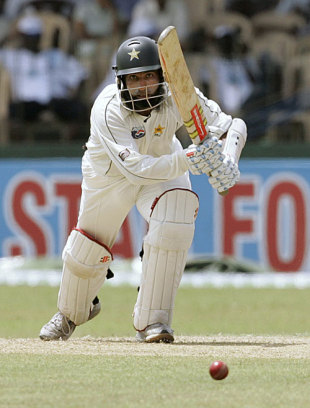 Mohammad Yousuf drives along the ground, Sri Lanka v Pakistan, 3rd Test, 1st day, Colombo, July 20, 2009