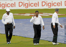 The umpires do a recce of the playing conditions, West Indies v Bangladesh, 2nd Test, Grenada, 4th day, July 20, 2009