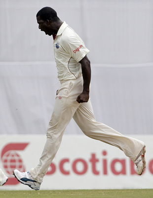 Darren Sammy is pumped up after dismissing Mohammad Ashraful, West Indies v Bangladesh, 2nd Test, 4th day, Grenada, July 20, 2009
