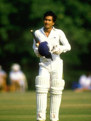 Sidath Wettimuny during a match, 1985