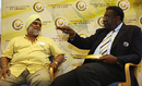 Bishan Bedi and Clive Lloyd in discussion at the ICC Centenary History Conference, Oxford, July 22, 2009